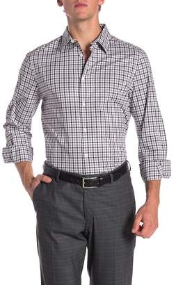 Perry Ellis Multi Check Stripe Print Stretch Slim Fit Shirt