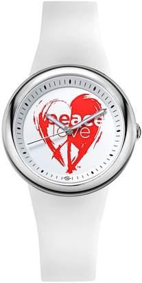 Philip Stein Teslar Unisex Peace Love Stainless Steel Watch, 36mm