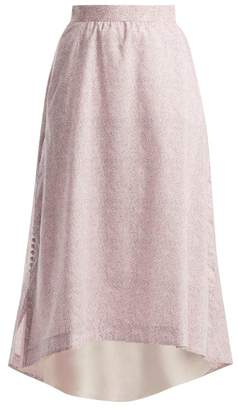 Loewe Liberty Print Cotton Poplin Skirt - Womens - Pink Print