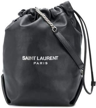 Saint Laurent black Teddy bucket bag