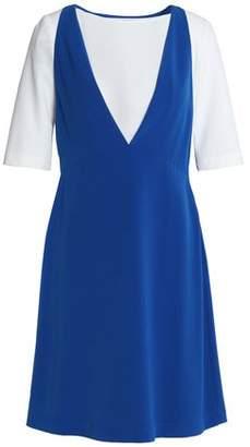 Moschino Two-Tone Crepe Mini Dress