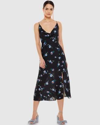 Talulah Azure Flounce Midi Dress