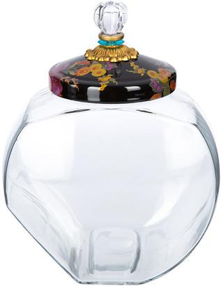 Mackenzie Childs MacKenzie-Childs - Cookie Jar with Flower Market Enamel Lid - Black
