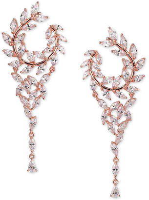 """Nina Crystal Hoop 2-1/2"""" Chandelier Earrings"""