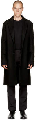 Maison Margiela Black Heavy Wool Coat