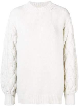 Fine Edge cable-knit jumper