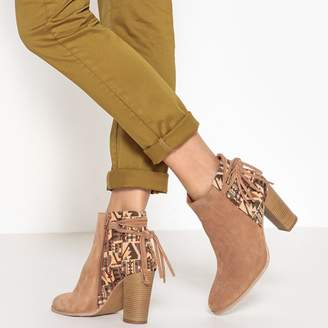La Redoute Collections Aztec Leather Ankle Boots