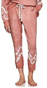 Electric & Rose Women's Kinney Tie-Dyed Fleece Jogger Pants - Pink