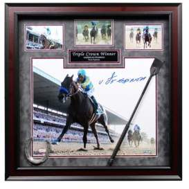 Steiner Sports Victor Espinoza Signed American Pharoah Triple Crown Winner Framed Collage