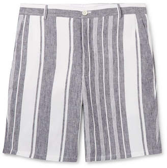 Thom Browne Slim-Fit Striped Linen Shorts