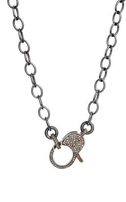 JANE BASCH DESIGNS Jane Basch Pave Diamond Clasp Long Chain Necklace