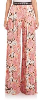 Just Cavalli Jersey Kiku-Print Pants