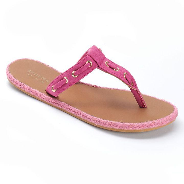 Sonoma life + style ® woven flip-flops - women