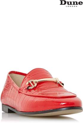 Next Womens Dune Croc Guilt Metal Bar Loafer
