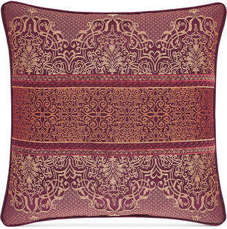"J Queen New York Ellington Red 20"" Square Decorative Pillow"