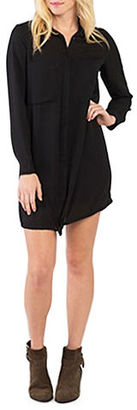 Kensie Drapey Crepe Shirtdress $89 thestylecure.com