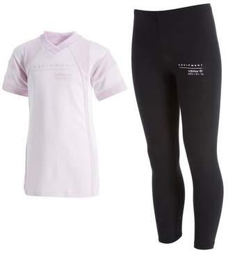 adidas Girls' EQT T-Shirt & Legging Set Children