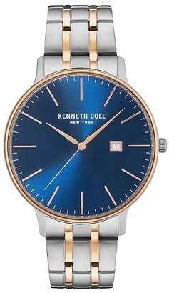 Kenneth Cole New York Men's Two-Tone Bracelet Watch, 42mm