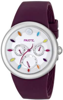 Philip Stein Teslar Fruitz by Unisex F43S-TF-PR Stainless Steel Watch With Purple Band