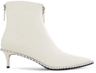 Alexander Wang Eri Studded Leather Ankle Boots - White