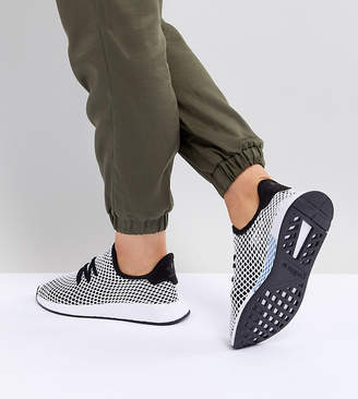 adidas Deerupt Runner Sneakers In Black And Gray
