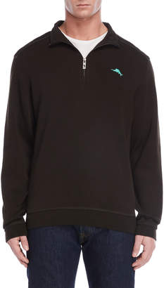 Tommy Bahama Mock Neck Quarter-Zip Pullover