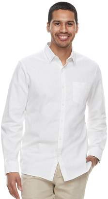 Marc Anthony Men's Slim-Fit Linen-Blend Stretch Button-Down Shirt