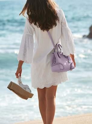 MICHAEL Michael Kors Eyelet Cotton-Poplin Dress