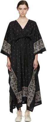 Visvim Black Kaftan Bandana Dress