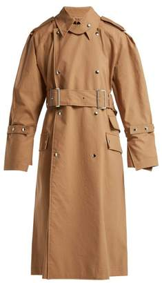Acne Studios Cotton Gabardine Trench Coat - Womens - Beige