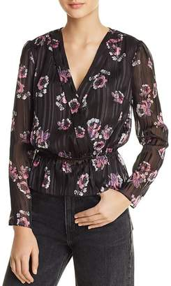 WAYF Virginia Floral Faux-Wrap Top