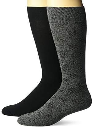Dr. Scholl's Men's Ultra Comfort Diamond Marl Crew Socks 2 Pair