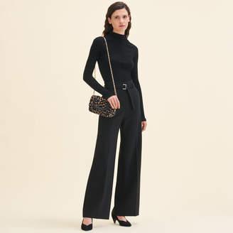 Maje Wide high-waisted trousers