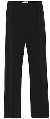 The Row Lala crêpe jersey trousers