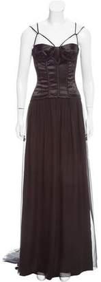 Dolce & Gabbana Satin-Paneled Evening Dress
