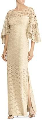 Ralph Lauren Flutter-Sleeve Lace Gown - 100% Exclusive