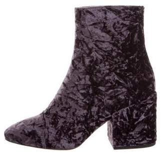 Dries Van Noten Velvet Ankle Boots w/ Tags