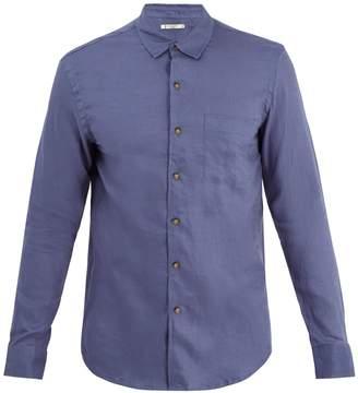 RETROMARINE Point-collar single-cuff linen shirt