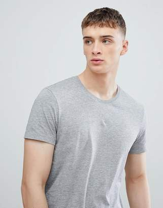 Esprit Longline T-Shirt In Gray With Crew Neck