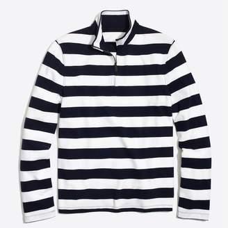 J.Crew Sueded cotton jersey half-zip pullover