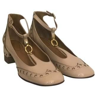 Chloé Beige Patent leather Sandals