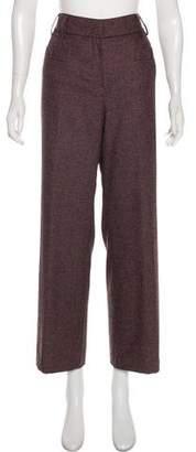 Chanel Wool & Angora Mid-Rise Pants