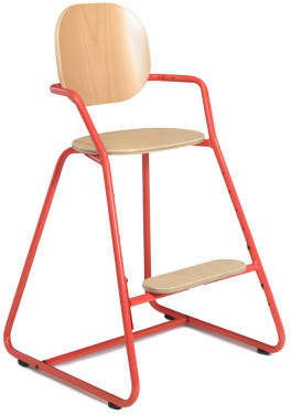 Charlie Crane Tibu Convertible High Chair With Table, Wood & Metal Structure, Leather Leg Strap