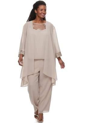 Plus Size Maya Brooke 3-Piece Pant Suit