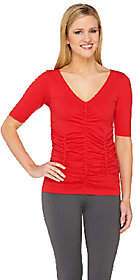 Legacy Conceal It Solid Ruched HalfSleeve Tee