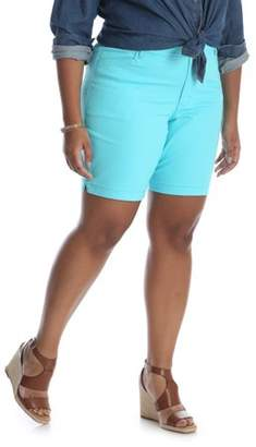 Lee Riders Women's Plus Simply Comfort Stretch Twill Short