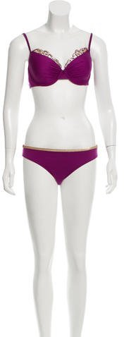 La Perla Embellished Two-Piece Swimsuit w/ Tags