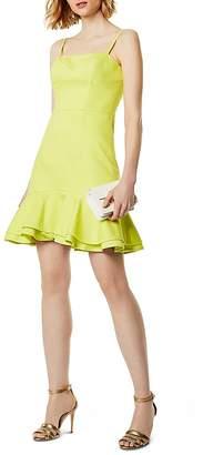 Karen Millen Ruffle-Hem Dress