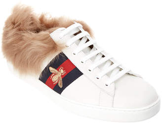 Gucci Ace Wool & Leather Sneaker