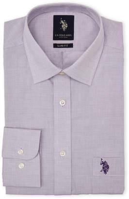 U.S. Polo Assn. Purple Slim Fit Dress Shirt
